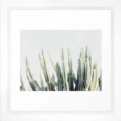 Desert Framed Art Print, 12 x 12, Vector White Frame - Society6