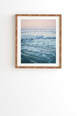 "PACIFIC OCEAN WAVES Wall Art, 19"" x 22.4"", bamboo frame - With mat - Wander Print Co."