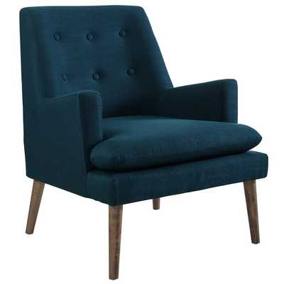 LEISURE UPHOLSTERED LOUNGE CHAIR IN AZURE - Modway Furniture