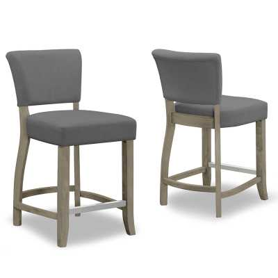 "Gaetano 24.75"" Bar Stool (Set of 2) - Wayfair"
