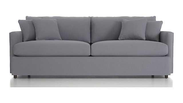 "Lounge II 93"" Sofa - Canvas, Granite - Crate and Barrel"