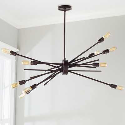 INDUSTRIAL GATHERED CHANDELIER - LARGE - Shades of Light