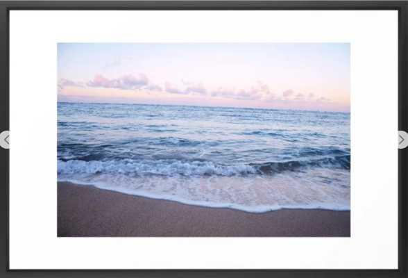 """Ocean Morning - 26"""" x 38"""" - vector black - Society6"""