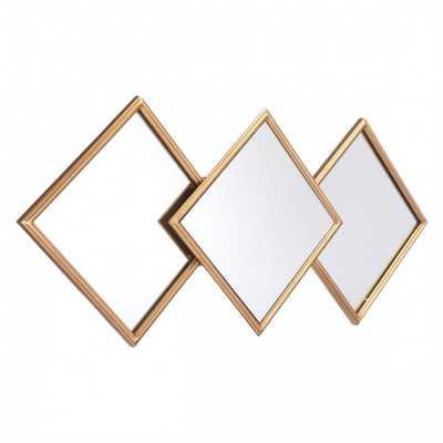 Rombos Mirror Gold - Zuri Studios