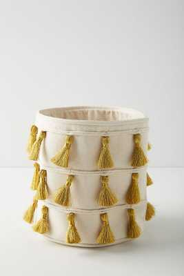 Tasseled Storage Basket - Anthropologie