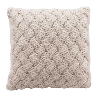 Irma Beige Decorative Pillow - Home Depot