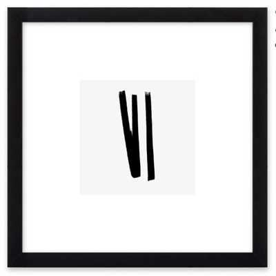 "Lines 2, 1 - 8"" x 8"" - Black Matte Frame with Mat - Artfully Walls"