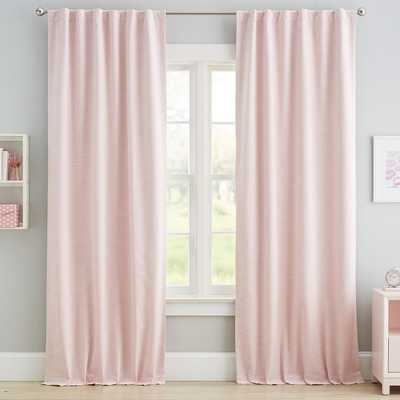 "Classic Linen Blackout Curtain, 84"", Blush - Set of 2 - Pottery Barn Teen"