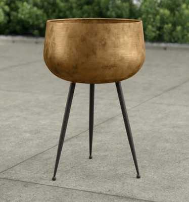 Mcmullen Iron Pot Planter with Legs - Wayfair