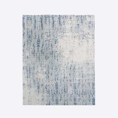 Distressed Foliage Rug, Moonstone, 8'x10' - West Elm