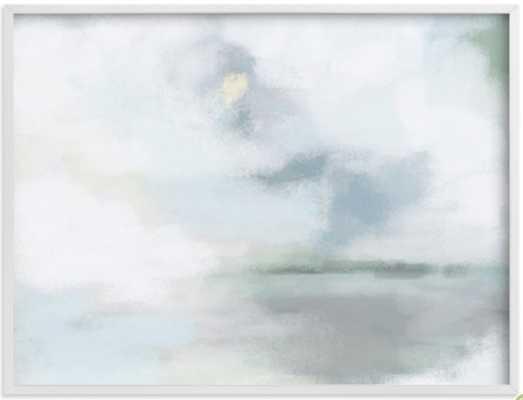 "Monday Blues - 40 x 30"" - White Frame - Minted"