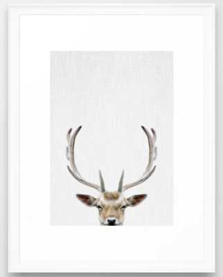 Deer Head Framed Art Print - Society6