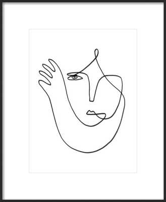 Muchacha -16x20 -Thin Black Wood frame with matte - Artfully Walls