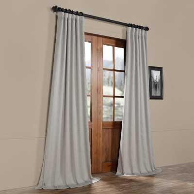 Manwaring Faux Linen Blackout Single Curtain Panel - 100candles.com