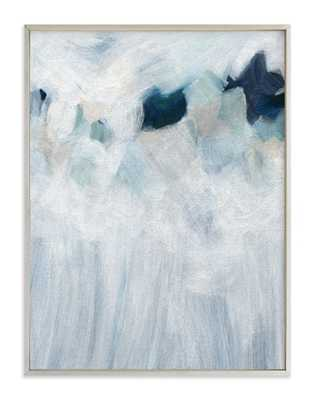 """anemone  - 30"""" x 40"""" - champagne silver - Minted"""