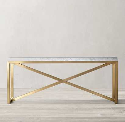 TORANO MARBLE RECTANGULAR CONSOLE TABLE - RH