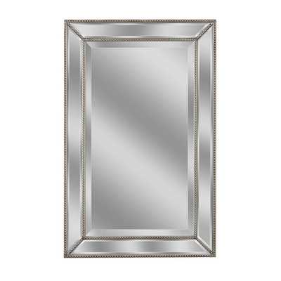 Headwest Metro Beaded Wall Mirror - Silver/Champagne - 20x 32 - eBay