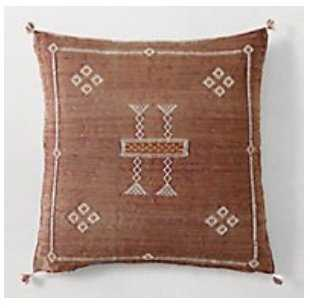 MOROCCAN CACTUS SILK PILLOW COVER - RUST - RH