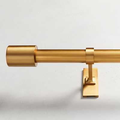 "Oversized Metal Rod, 48""-88"", Antique Brass - West Elm"