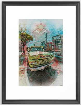 Old schooler Truck off the Mission District San Francisco Framed Art Print - Society6