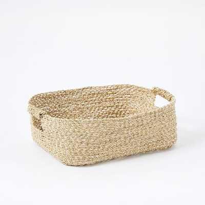 Metallic Woven Underbed Basket, Gold - West Elm
