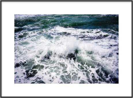 """White Splash 28"""" x 20"""" - Artfully Walls"""