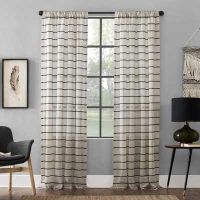 Twill Stripe Anti-Dust Curtain Panel Dusty - Clean Window - Target