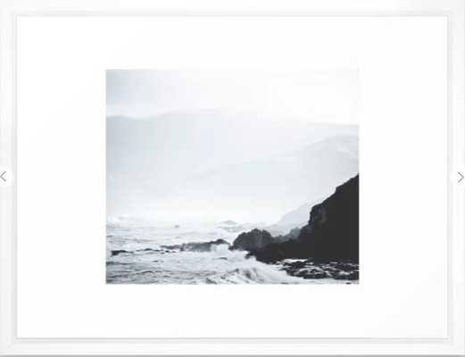 Sea Waves Seascape, Ocean Waves Photography, Sea Coast, Sea Beach Tapestry, Pillow etc Framed Art Print - Society6