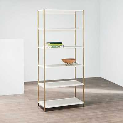 Zane Wide Bookshelf - White - West Elm