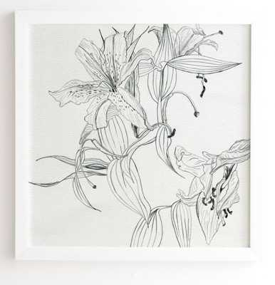 PENCIL LILIES -  White Framed Wall Art - Wander Print Co.
