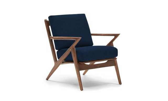 Soto Chair - Royale Cobalt - Walnut - Joybird