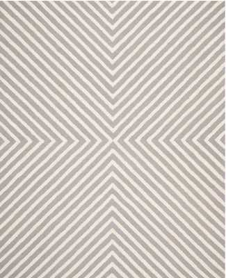 Cambridge Silver/Ivory 6' x 9'. Area Rug - Home Depot