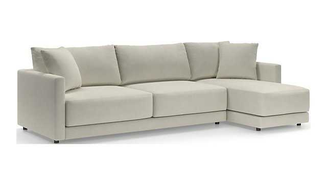 Gather 2-Piece Right Arm Chaise Sectional - Crate and Barrel