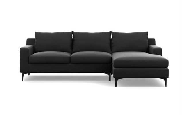 SLOAN Sectional Sofa with Right Chaise in smoke - Interior Define