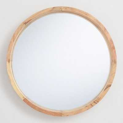 Large Round Natural Wood Wall Mirror by World Market - World Market/Cost Plus
