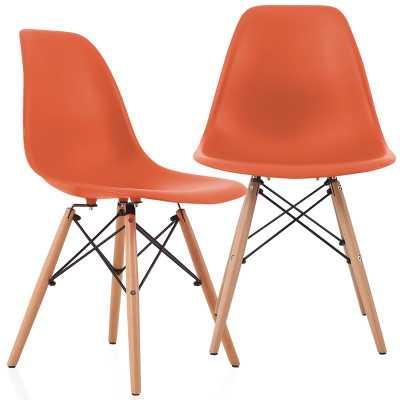 Aquarius Dining Chair, Set of 2, Blood Orange - Wayfair