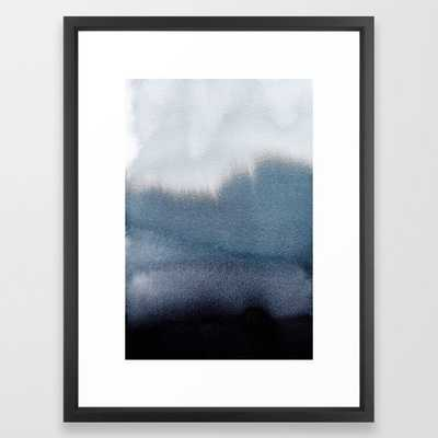 "Navy Blue Abstract Framed Art Print 101 by PrintsProject- 20"" X 26""- Vector Black - Society6"