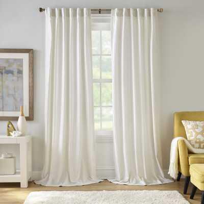 Savala Distressed Velvet Window Solid Room Darkening Thermal Curtain Panel - Wayfair