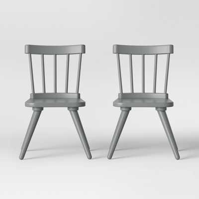 Set of 2 Kids Windsor Wooden Chairs - Pillowfort - Target