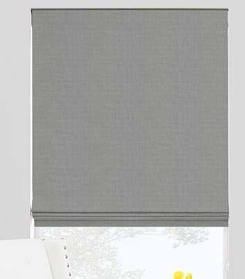 FLAT ROMAN SHADES - sterling- blackout - The Shade Store