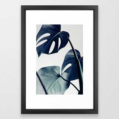 Botanical Vibes II FRAMED ART PRINT BLACK VECTOR FRAME - Society6