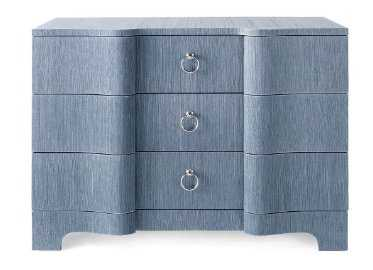 BARDOT LARGE 3 -DRAWER, NAVY BLUE - Bungalow 5