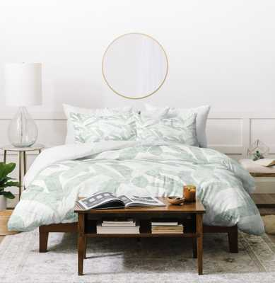BANANA LEAF LIGHT Queen Duvet - Wander Print Co.