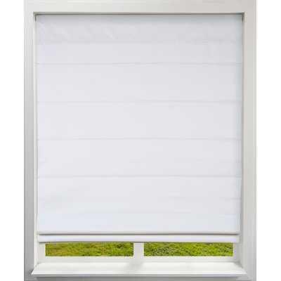 "Room Darkening Roman Shade -27.5""x60"", Cloud White - Wayfair"
