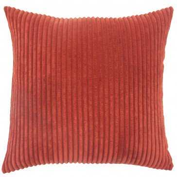 "Calvine Solid Pillow Crimson-20"" x 20""-With Down Insert - Linen & Seam"