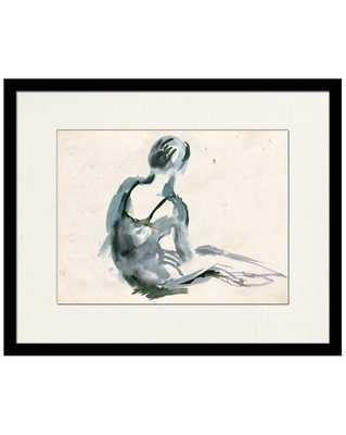 BALLERINA IN BLUE 1 Framed Art - McGee & Co.