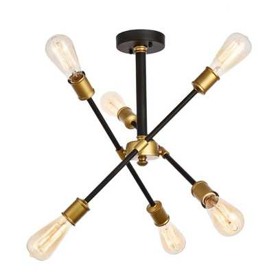 Johanne 6-Light Sputnik Chandelier, Black/Brass - AllModern