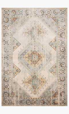 ISA-01 Oatmeal / Silver, 6' x 9' - Loma Threads