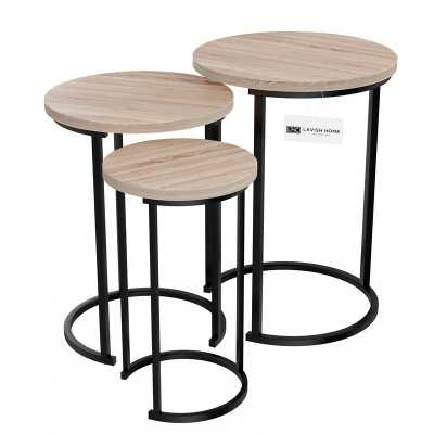Caire Round Nesting Table Set-(Set of 3) - Wayfair