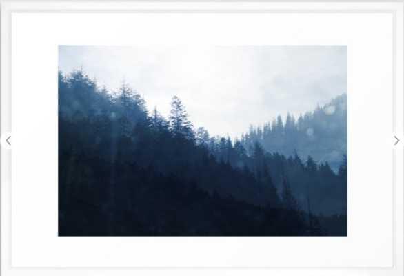 Blue Forest Framed Art Print - Society6